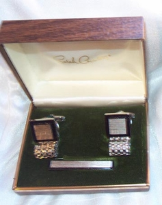 MERCURY Tie Bar/Cuff Links Set - Silvertone
