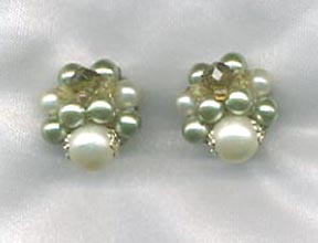 Japan Green Cluster Earrings