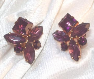 Purple RS Screwback Earrings