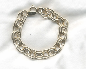 Goldtone Double Links Bracelet - SC