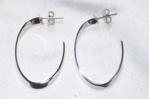 STYLISH Earrings - Silvertone