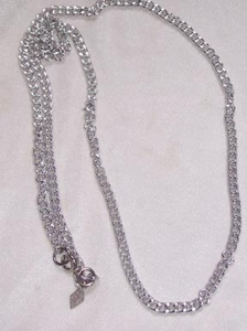 SPARKLE CHAIN Necklace - Silvertone