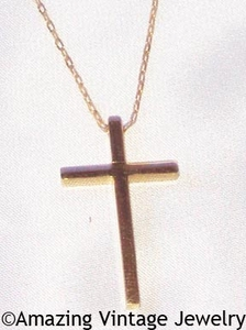 CALVARY CROSS Goldtone