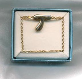 SCHOOL DAYS INITIAL PENDANT Necklace - T
