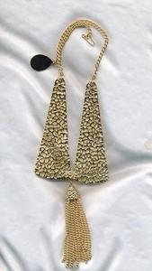 Heavy Goldtone Openwork Necklace