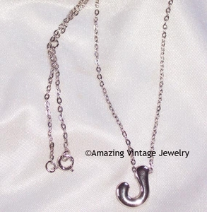 SCHOOL DAYS INITIAL PENDANT Necklace - J