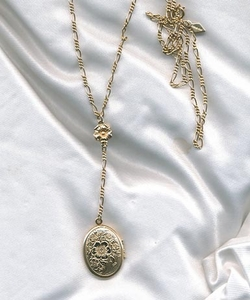 FLORAL Locket Necklace
