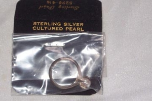STERLING PEARL Ring