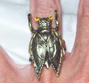 Bronze-Colored Cicada Ring - NEW, NOT VINTAGE