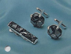 CHARCOAL CLASSIC Tie Bar & Cuff Links