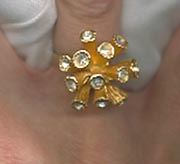 Goldtone Spikes Ring