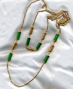 ORIENTAL LANTERNS Necklace Set  Green
