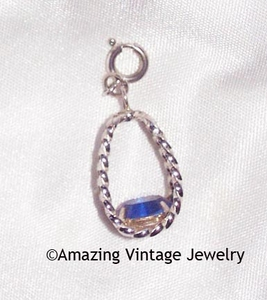 STERLING SILVER CHARMS - September - Sapphire