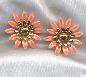 FASHION PETALS Earrings - Orange