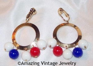 CARNIVAL Earrings - Red, White, Blue