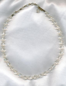 Clear Glass Beads Necklace