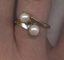 PEARL DUET Ring