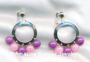 CARNIVAL Earrings - Pink & Purple