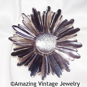 SUNFLOWER Pin - Silvertone