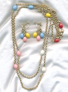 CARNIVAL Necklace/Earrings - Pastels 50's