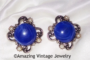FIESTA Earrings - Sea Blue