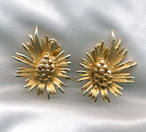 Lisner Goldtone Flower Earrings