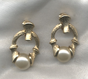 FIESTA Earrings - Faux pearl inset only