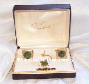 ROYAL JADE Tie Tac & Cufflinks
