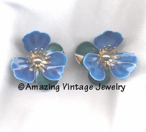 TAHITIAN FLOWER Earrings - Blue