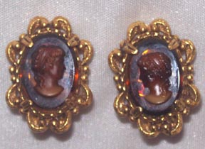FLORENZA Cameo Earrings