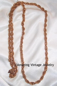 TWISTED ROPE Necklace - Goldtone