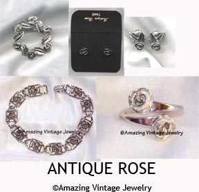 ANTIQUE ROSE Set  - 1971 - Pin available