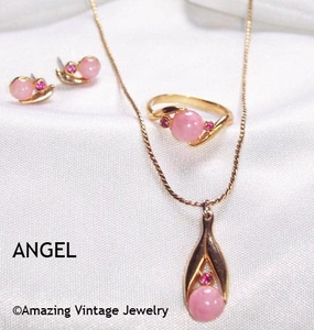 ANGEL Set - 1980 - Necklace & Pierced Earrings available