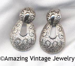 TWO-TIMER Earrings - Silvertone