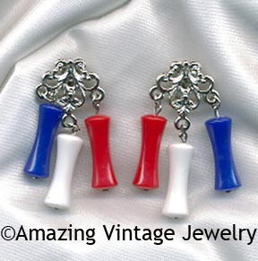 APPLAUSE Earrings - Red, White, Blue