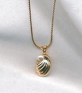Shell/Faux Pearl Necklace