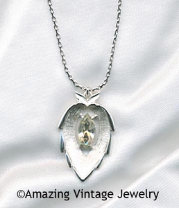 Crystal Navette Necklace
