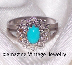 AQUA TREASURE Ring - Size 5