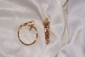TRIFARI Goldtone Hoop Earrings