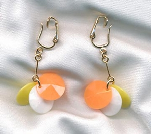 HULABALOO Earrings Yellow, White, Orange