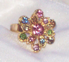 Multi Rhinestone Ring