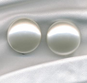 Large Faux Pearl Clips
