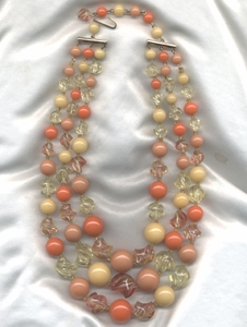 Fruit-Colored Beaded Necklace