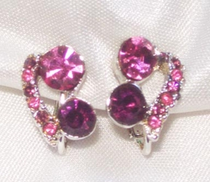 Pink/Purple RS Earrings