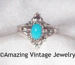 BLUE FEATHER Ring