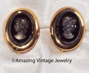 MIDNIGHT CAMEO Earrings