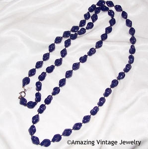 HOLIDAY BEADS Necklace - Navy