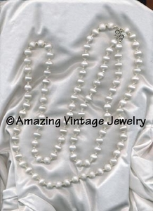 White Satin Necklace