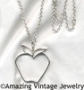 THE BIG APPLE Necklace - Silvertone