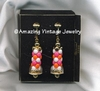 CAROUSEL Earrings Pink & Orange